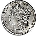 1 dolar Morgan srebro 900