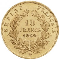 10 franków Napoleon III 0.0933oz 900