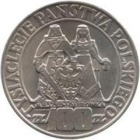 100 zł Mieszko i Dąbrowka 1966 srebro 900 20g
