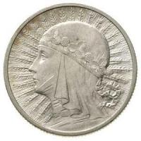 2 zł Głowa Kobiety srebro 750 4,40g