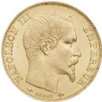 20 franków Belgia, Francja, Szwajcaria 0.1867 oz 900