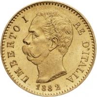 20 lir Umberto I 0,1867 oz