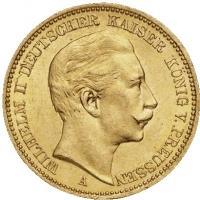 20 marek Wilhelm II 900, 0,2304 oz