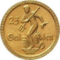 25 guldenów Posąg Neptuna złoto 917 7,9g
