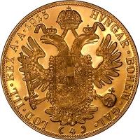 czworak Austria, złoto 986 0,4430 o.z.
