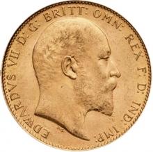 angielski soveren Edward VII 916 7,315 gr